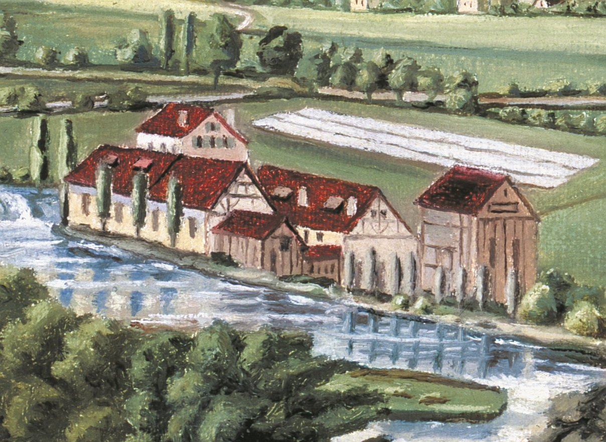 Historic painting of the Scheckenbleiche