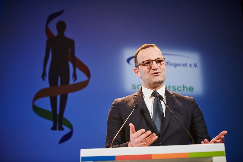 Health minister Jens Spahn speaking at the Deutscher Pflegetag
