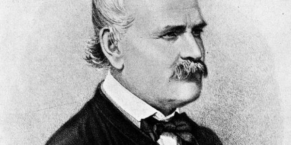 Historical portrait of Dr Ignaz Semmelweis
