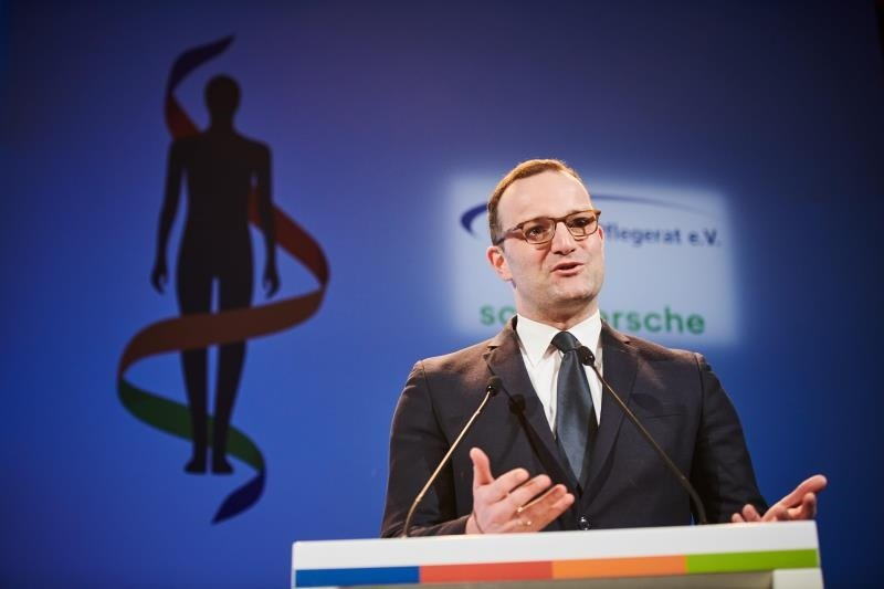 Health Minister Jens Spahn holding speech at the German Nursing Day.