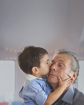 Content investor relations teaser small grandchild and grandfather