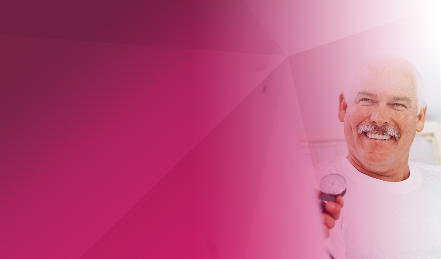 doctor smiling background pink