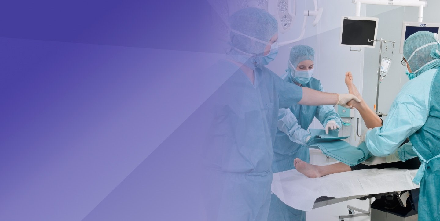surgery hygiene blue background