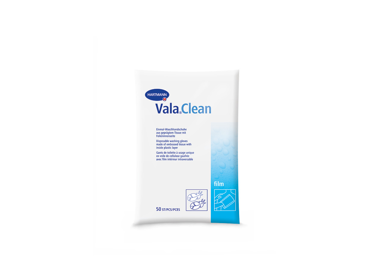 ValaClean basic Einmal-Waschhandschuhe PZN 03127623 - 50 St/ück .