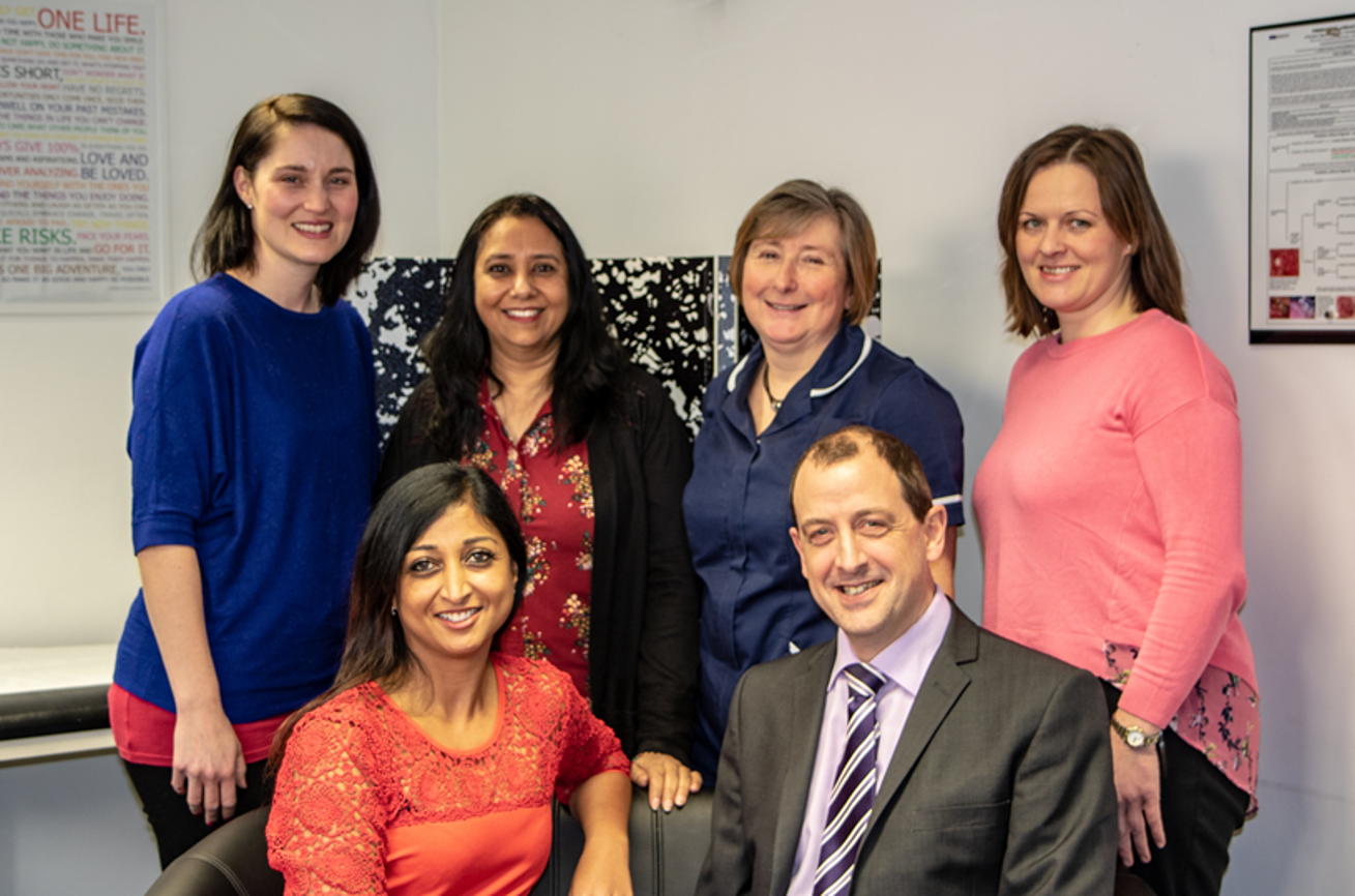 Herts Health GP Practice Team and HARTMANN's Healthcare Partnership Manager, Chris Oldale