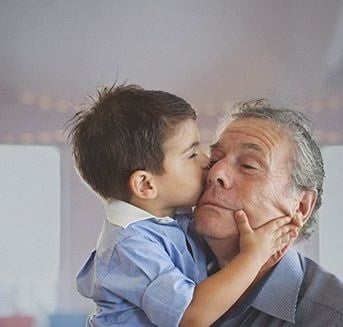 Content investor relations header grandchild and grandfather