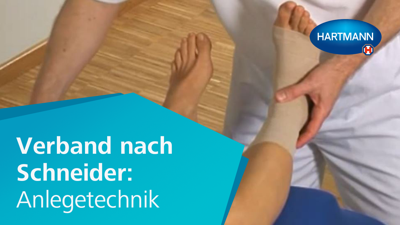 "Video ""Verband nach Schneider: Anlegetechnik"""