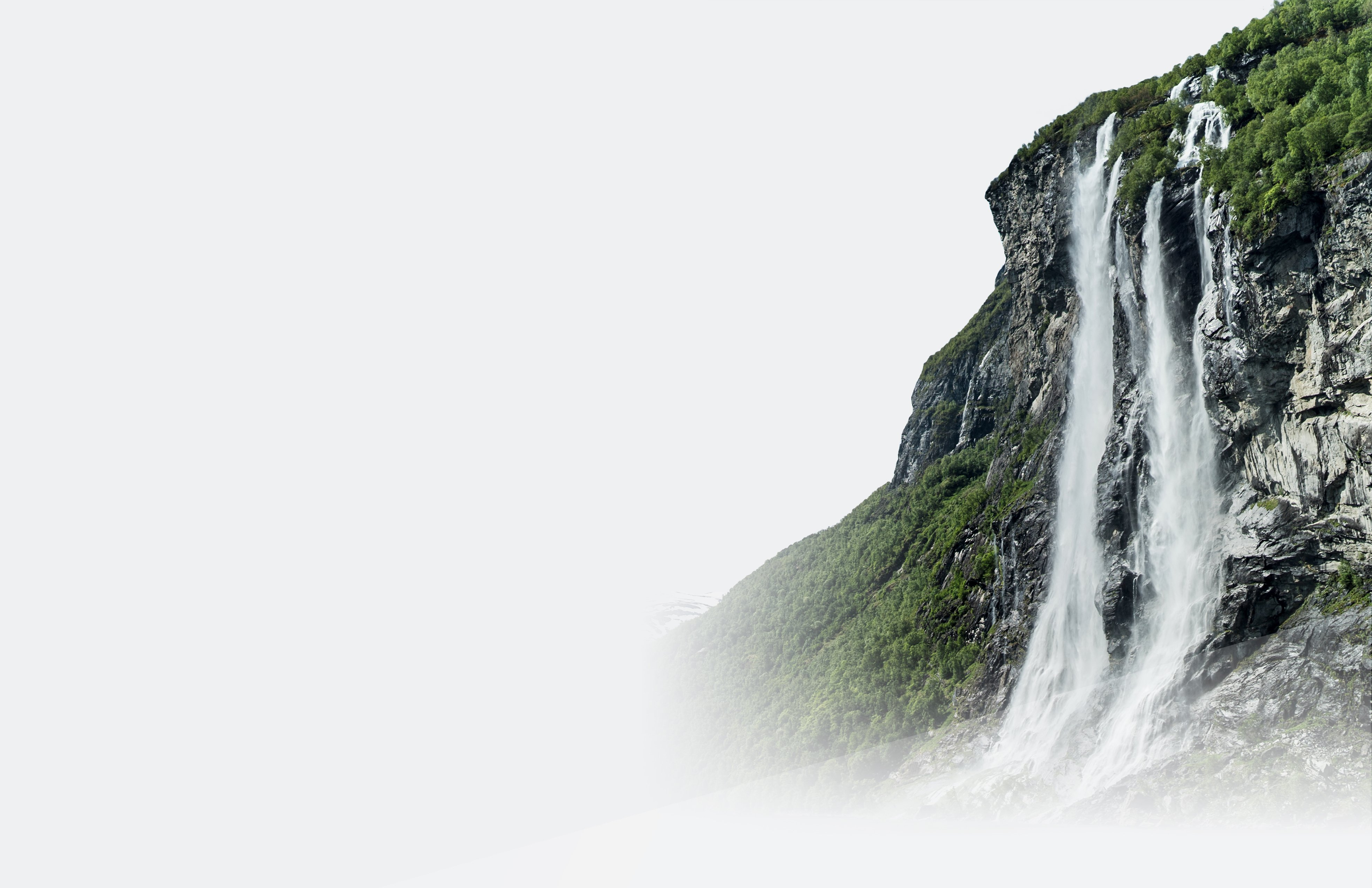 Mountain with waterfall