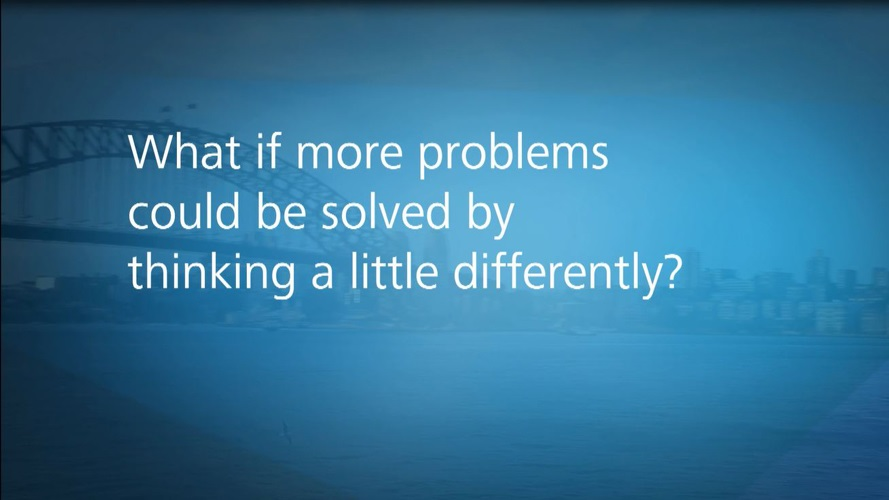 What if more problems could be solved with thinking differently?