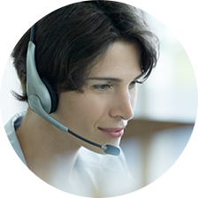Contact vcard content women with headset
